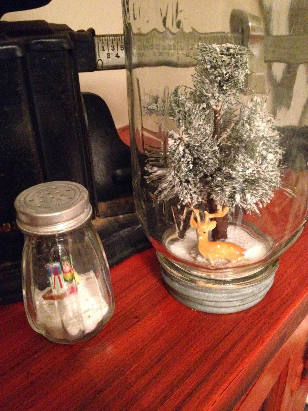 thealteredpast.blogspot.com, mason jar, snow globe, handmade christmas