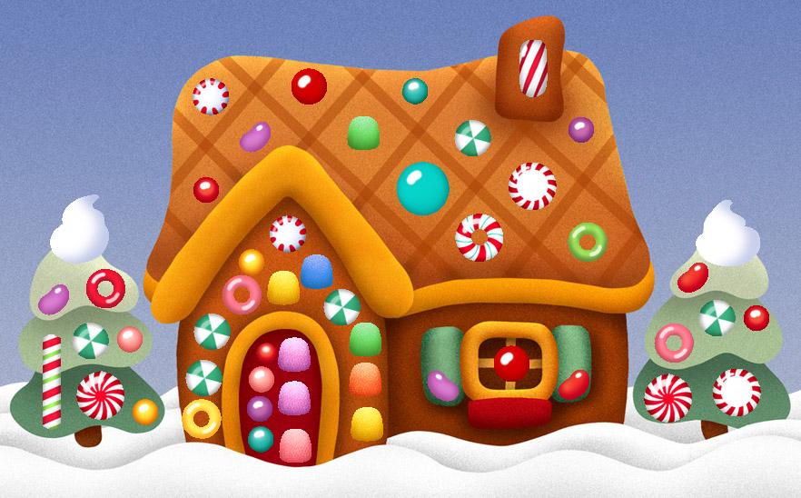 Gingerbread House Cartoon Gingerbread House Clip Art