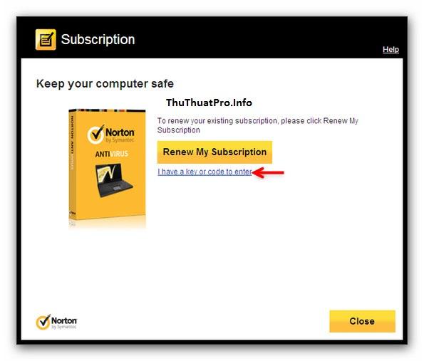 Miễn phí 180 ngày Norton Antivirus 2013