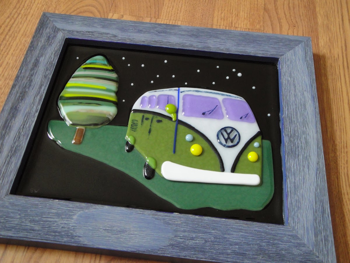 VW Volkswagen Fused Glass Stained Glamping Camping Star Reto Vintage Constellation Flutterbyfoto FlutterbyButterfly