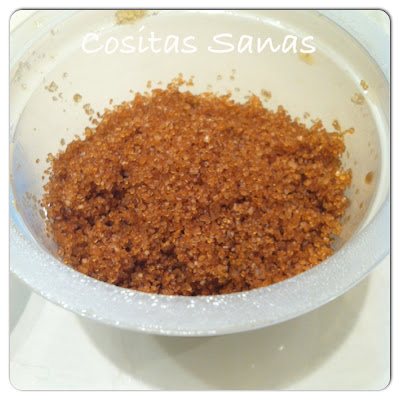 exfoliante facial de miel y azucar de caña, cosmetica ,natural