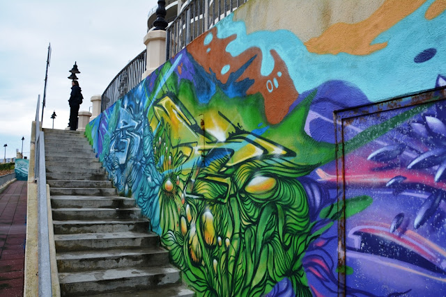 Graffiti St. Julians stairs
