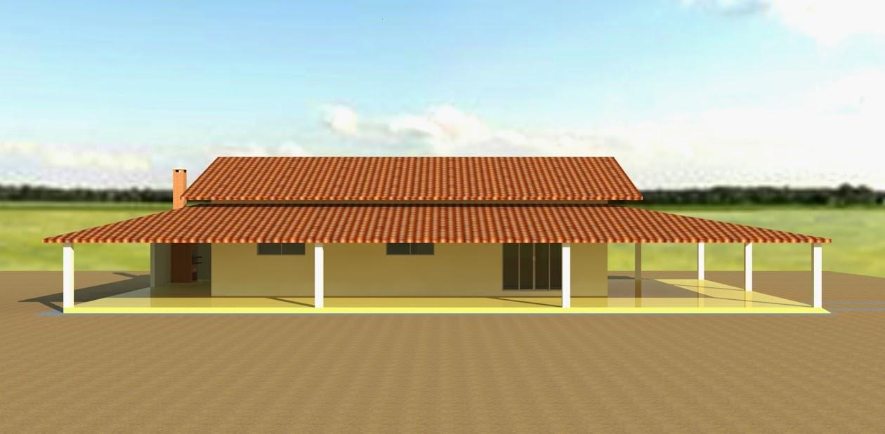 Desenho e projeto casa de campo fachada lateral for Fachada casa campo