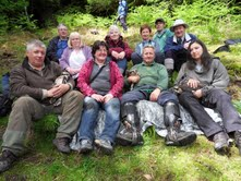 Tweed Valley Osprey Project volunteers at yesterdays ringing