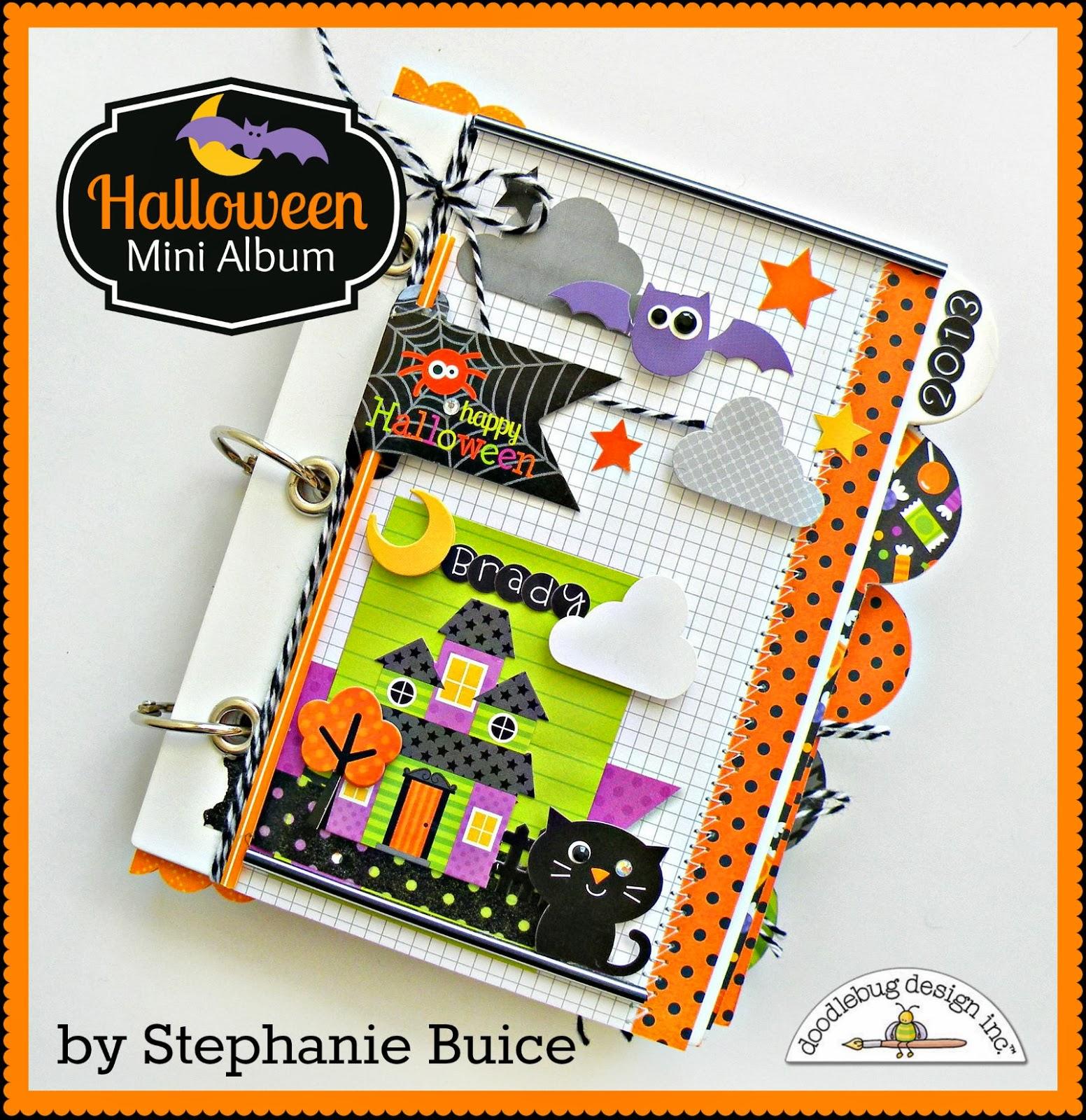 doodlebug design inc blog: prep your halloween mini album in advance