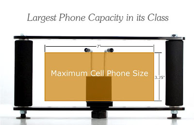 Maximum Cell Phone Size Supported On the StrongHold Cell Phone Grip.