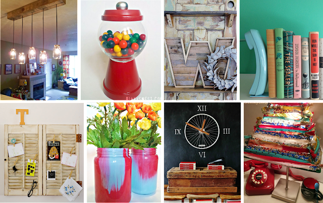 Our 8 Favorite Upcycled DIY's for Your Home on www.twenty8divine.com