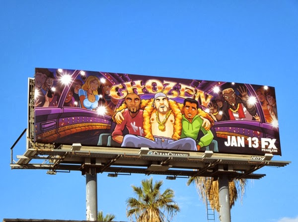 Chozen season 1 TV billboard