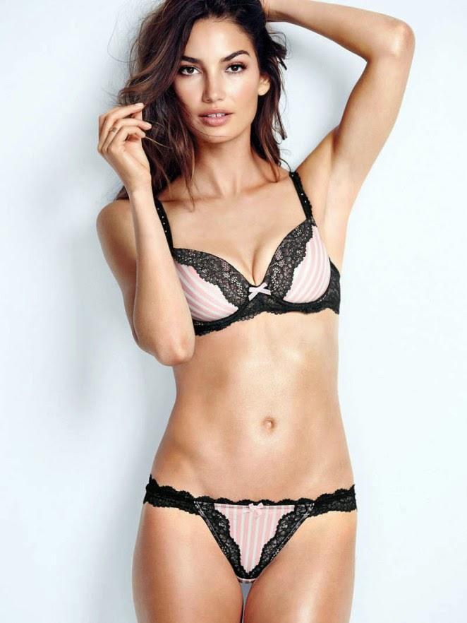 Lily Aldridge is seductive for the 2014 Victoria's Secret Lookbook
