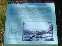 Plafó informatiu sobre l'església i rectoria de Sant Andreu