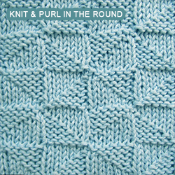 Knitting Stitches For Knitting In The Round : Pythagorean Triangles - knitting in the round Knit - Purl stitches