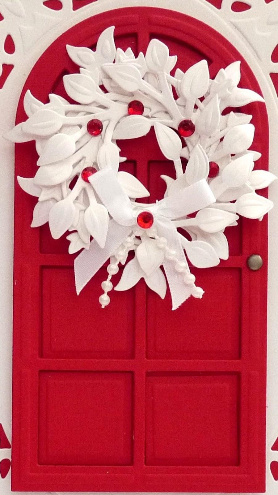 DipsDesigns: Christmas Door & Wreath Card Tutorial