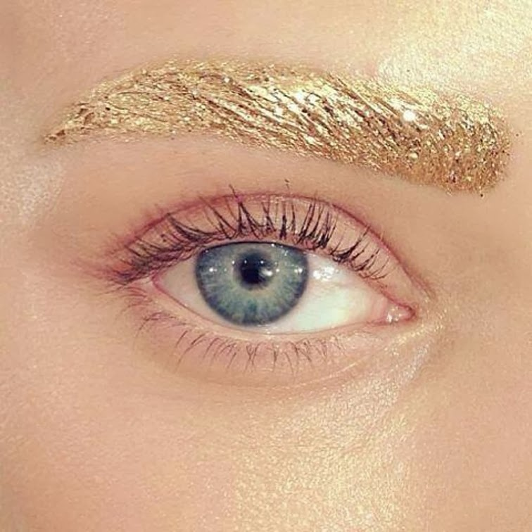 Dior ss14 beauty gold eyebrows Raf Simons Pat McGrath