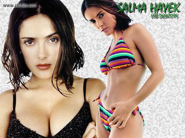 Salma Hayek sexy with bikini