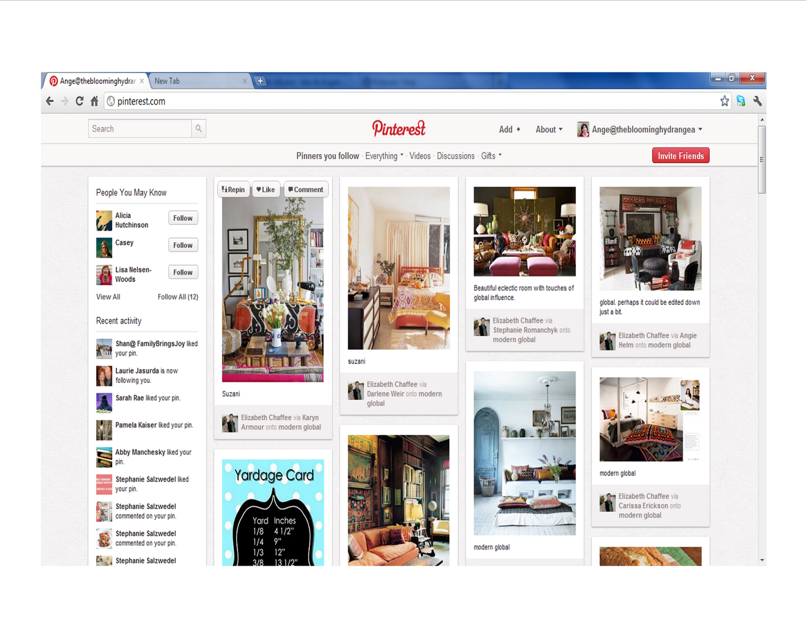 Global home on pinterest - If I Don T Want To Browse What Has Recently Been Pinned By People I Am Following I Just Click On The Word Everything Located Under The Pinterest That Is In