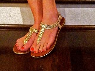 Aldo, casual sandal, gold sandal, flat sandal, flat gold sandal, rhinestone sandal, brisky, c. style, carly lee, housotn, galleria, houston galleria