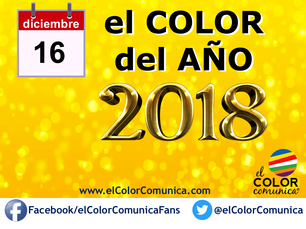 EVENTO: el color del año 2018