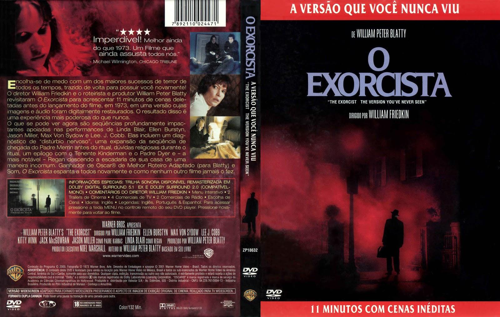 Capa DVD O Exorcista A Versão Que Você Nunca Viu