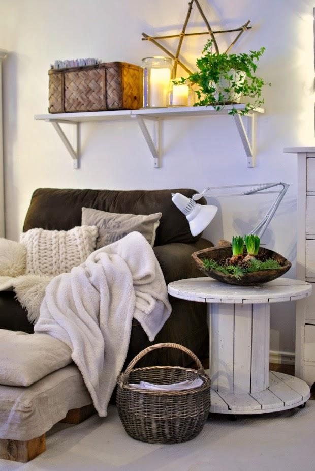 hyacinter fåtölj julinspiration modernwool enjoycandles