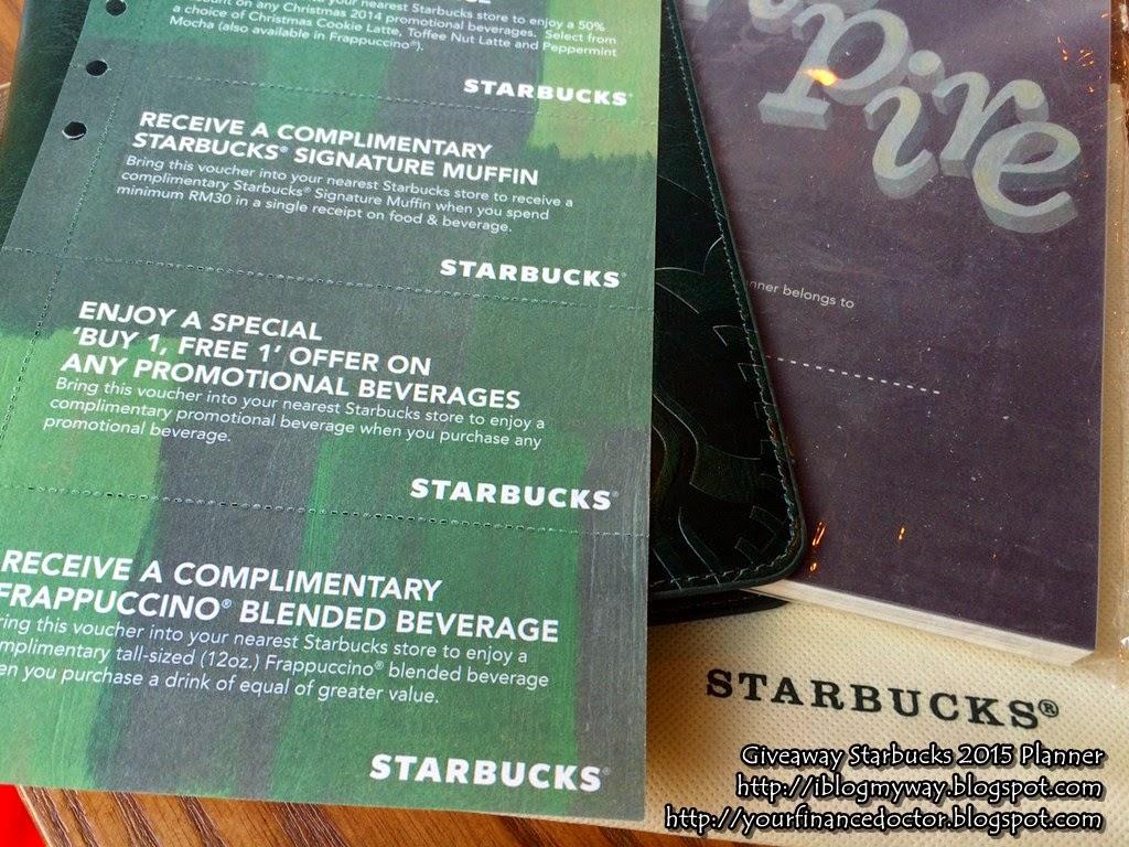 Giveaway Starbucks 2015 Planner