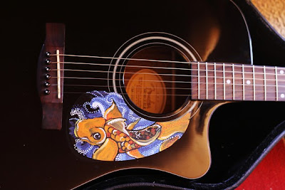 Monday etsy madness for Koi fish guitar