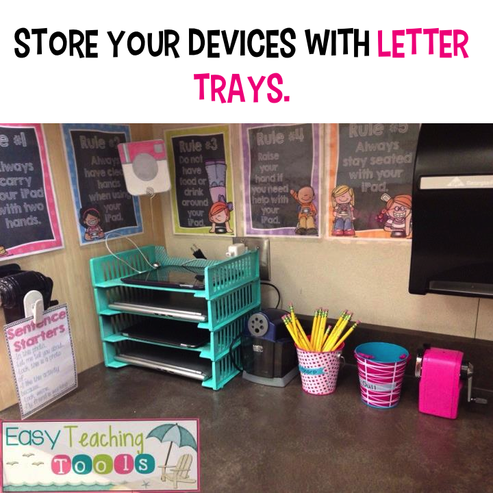 Classroom Storage Ideas ~ Easy classroom organization tips teaching tools