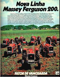 propaganda tratores Massey Ferguson 200 - 1976