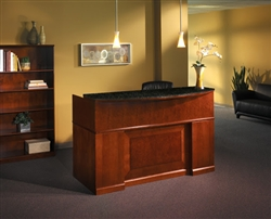 Luxury Wood Reception Desk with Granite Counter Top