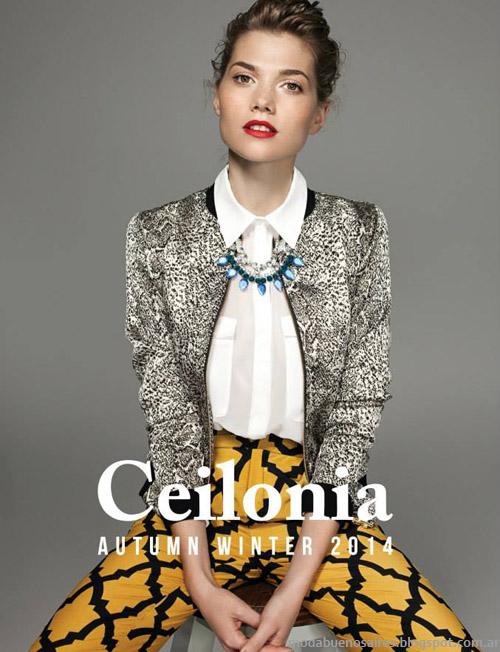 Moda 2014: vestidos, faldas y blusas otoño invierno 2014 Ceilonia.