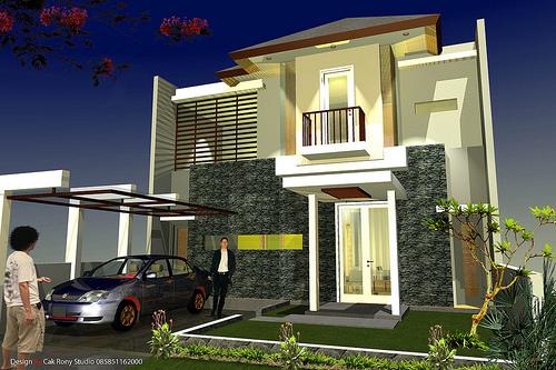 10 Contoh desain rumah minimalis 2 lantai