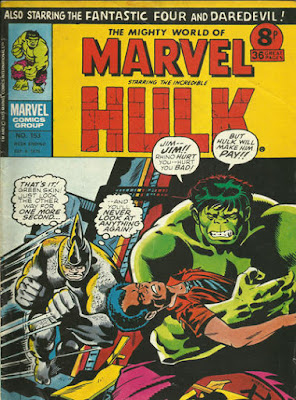 Mighty World of Marvel #153, Hulk vs the Rhino