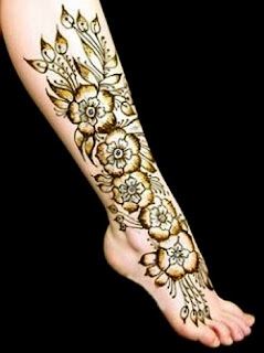 New Foot Mehndi Designs 2012