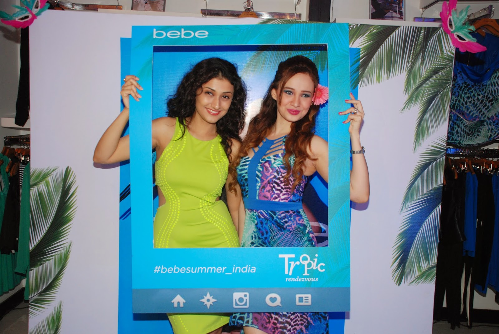 Ragini Khanna & Stephanie Timmins at the Bebe Tropic Rendezvous Event, Mumbai