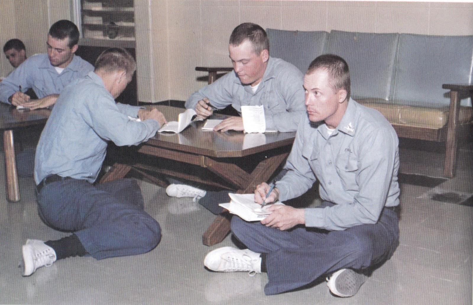 Company 42 boot camp barracks. The guys writing home Orlando, Florida 1981