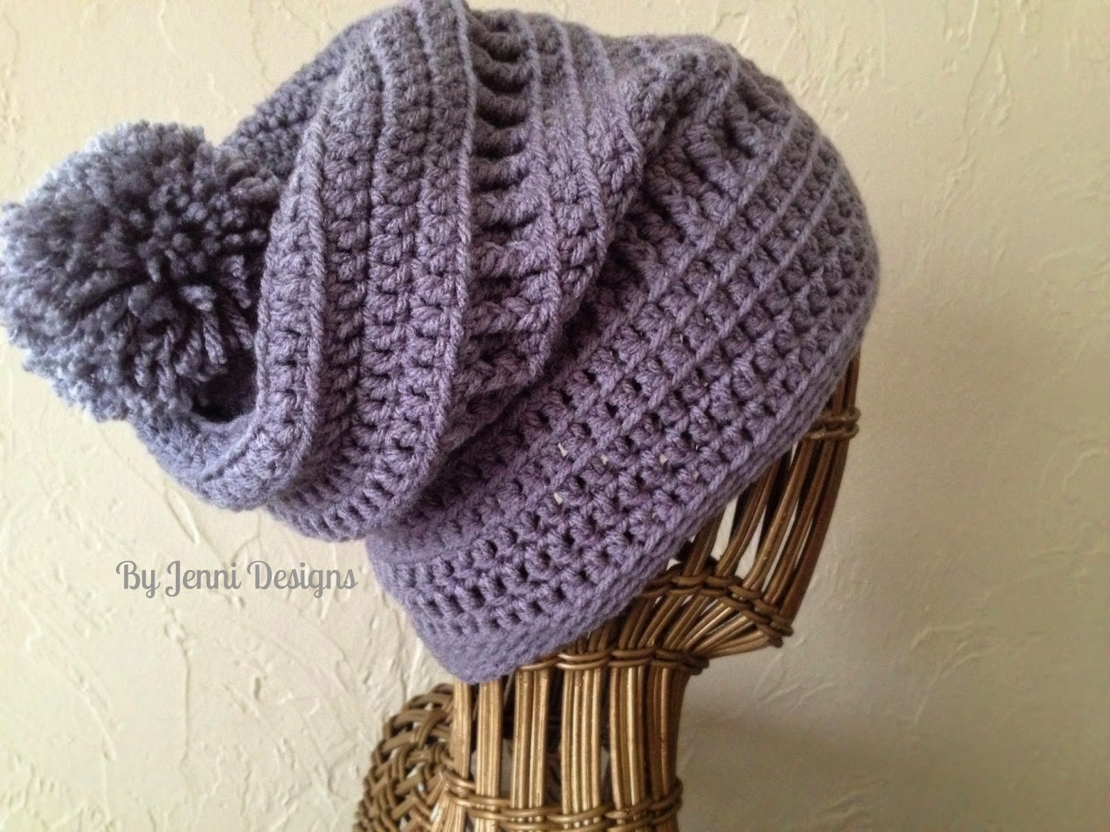Free Crochet Pattern For Ladies Beanie Hat : By Jenni Designs: Free Crochet Pattern: Womens Slouchy ...