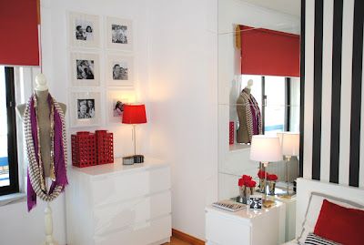 blog de decoração, antes e depois, decoração de kitnete, quitinete, decoração em vermelho e preto