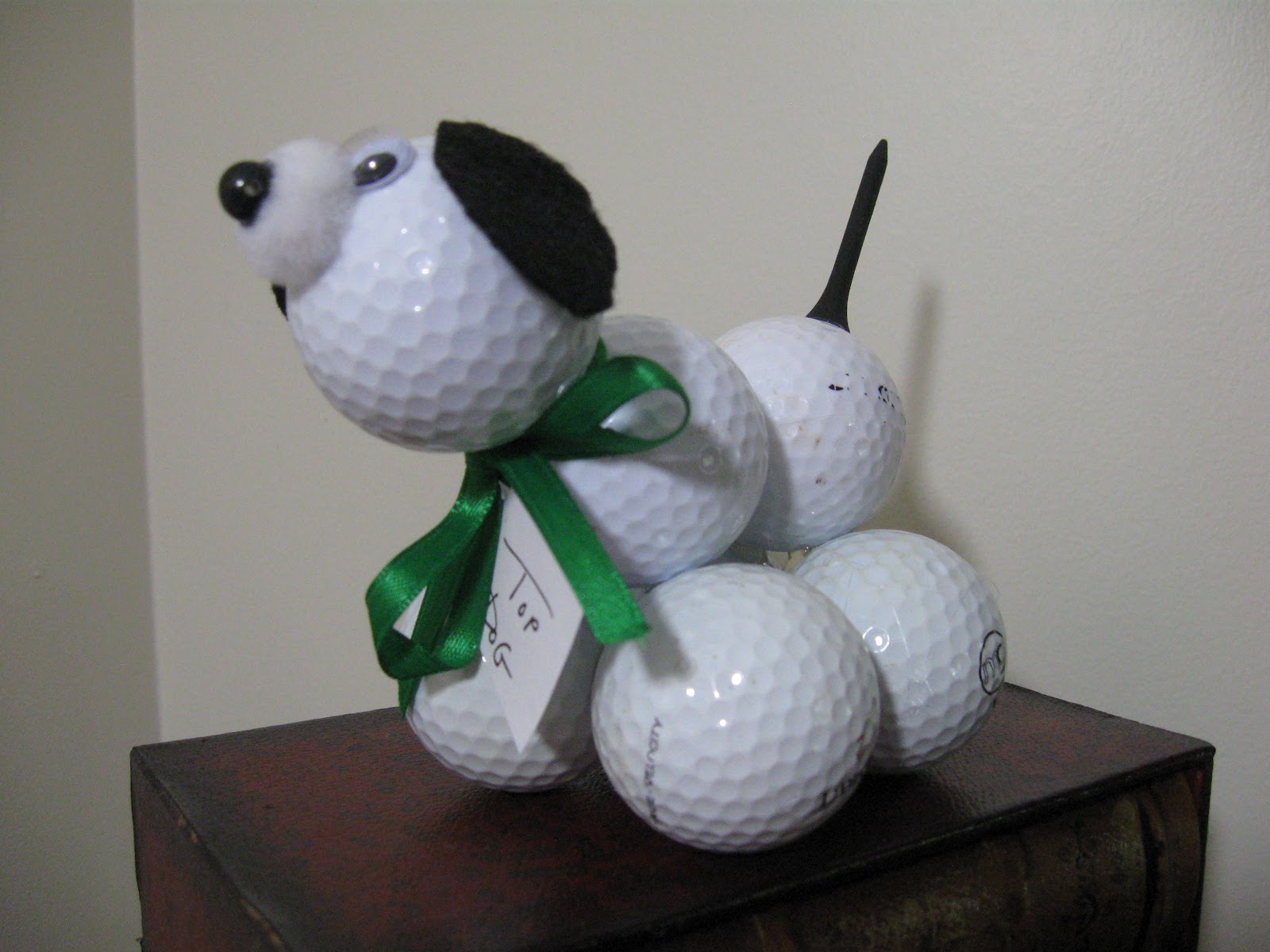 Craft klatch golf ball poodle for father 39 s day easy craft for Dog craft ideas
