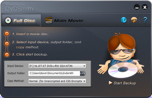 Clonar un DVD facilmente con DVDSmith Movie Backup