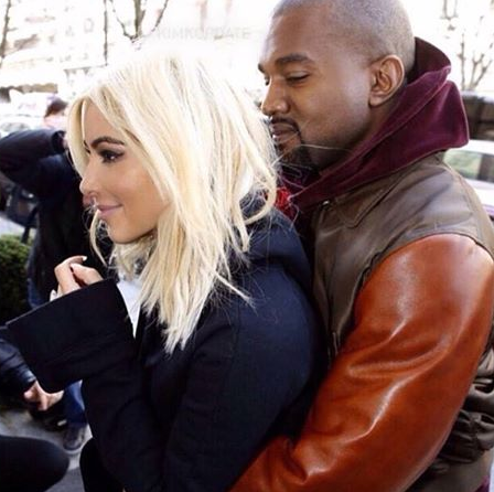 Kim Kardashin Blonde Hair and Kanye Love Face Photos and more
