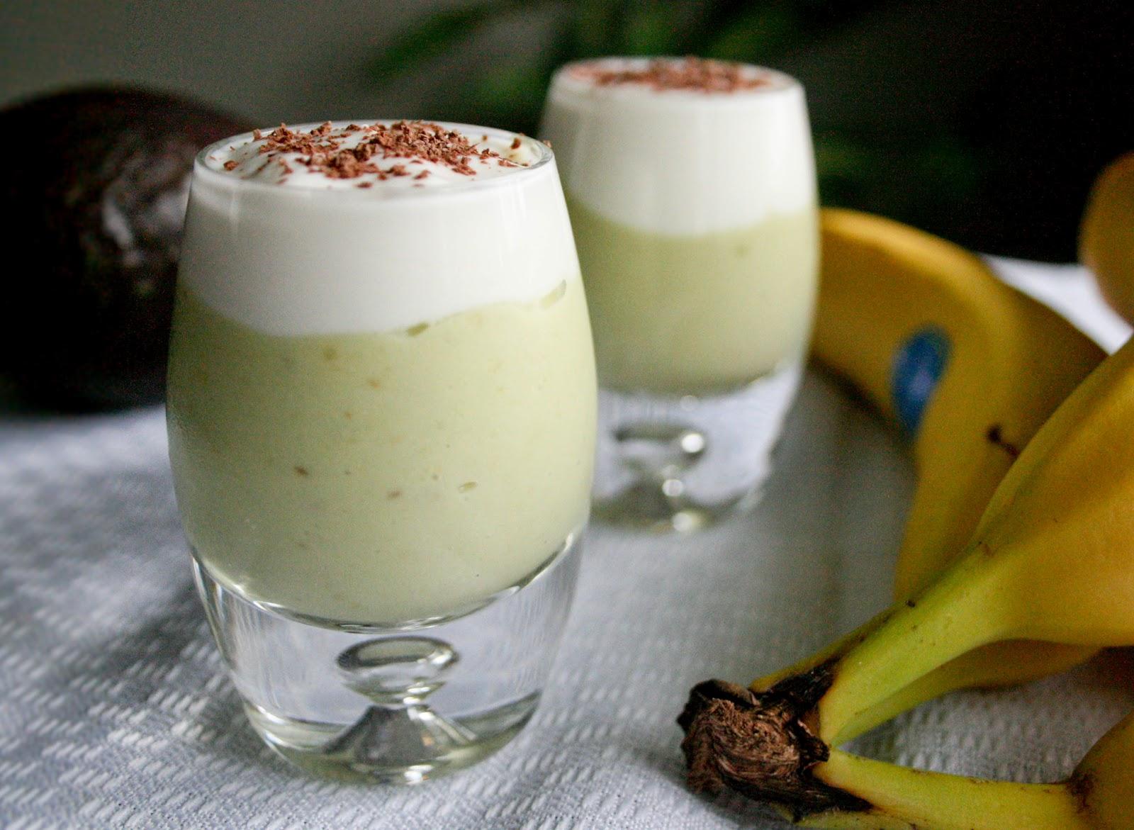 avocado and banana smoothie shooters 1 banana 1 avocado 3