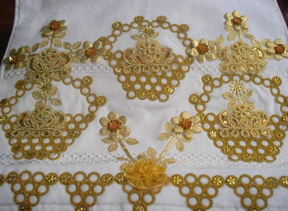 havlu işlemeleri,dantel havlu kenarları, havlu dantelleri