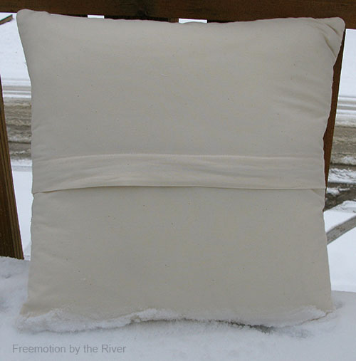 Concealed zipper flap on pillow
