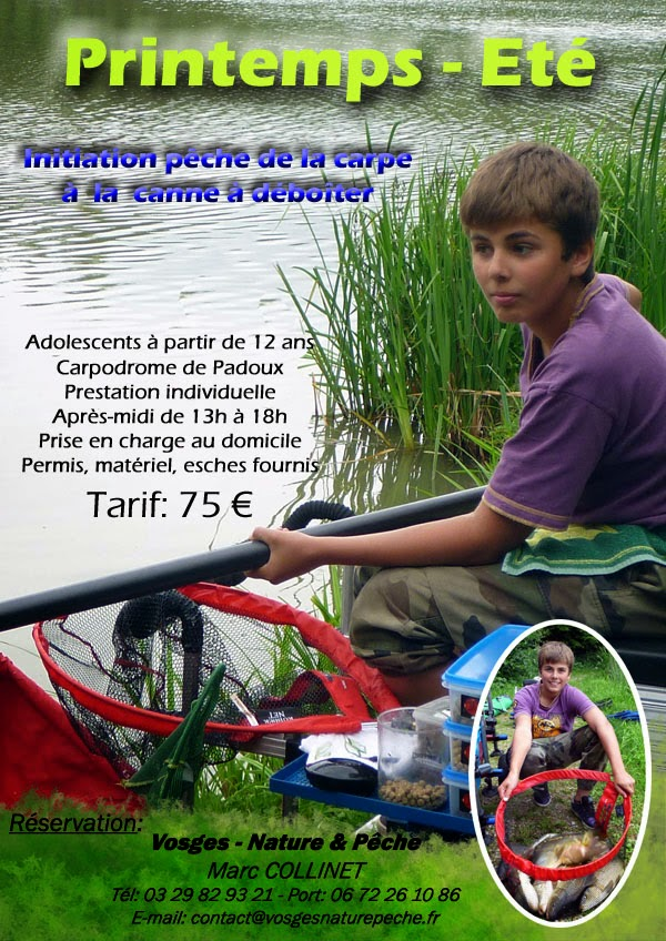 Stages de pêche en carpodrome