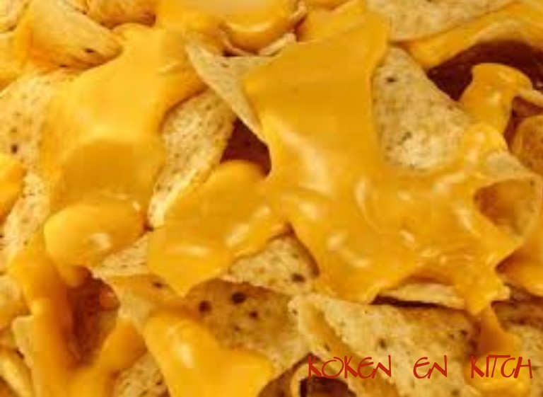 nacho cheese met gesmolten kaas