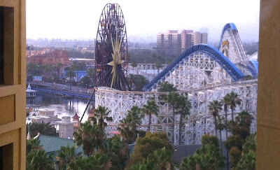 Paradise Pier seen from hotel