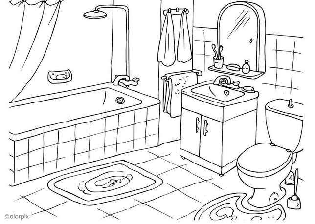 coloring pages of a bath - photo#23