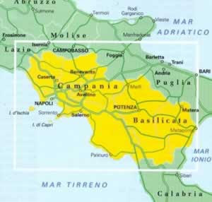 Campania e Basilicata Mappa Regionale