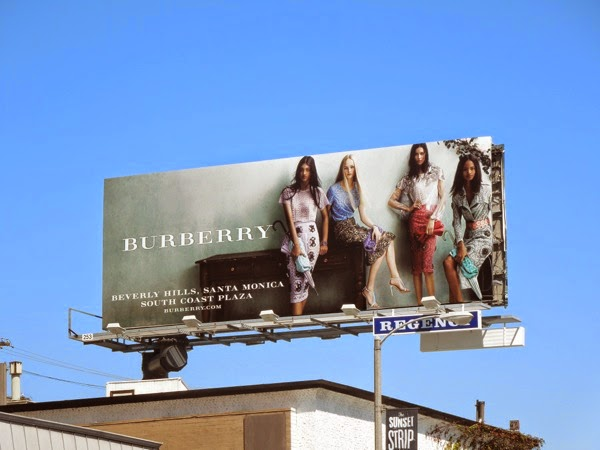 Burberry Spring 2014 dresses billboard