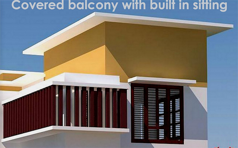 4 bedroom modern villa design house design plans - Houses with covered balconies ...