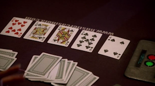 A poker scene from the second episode of HBO's 'Luck'